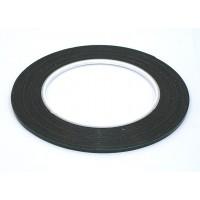 Скотч двусторонний черный вспененный с зеленой защитной лентой толщина 0.5мм ширина 3мм 10м