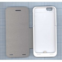Аккумулятор/чехол для Apple iPhone 6 3500 mAh белый leather cover