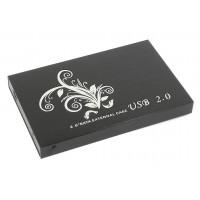 """Бокс для жесткого диска 2,5"""" алюминиевый USB 2.0 DM-2512 черный"""