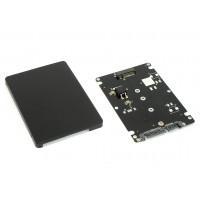 Бокс для SSD диска M2 с выходом SATA пластиковый, черный