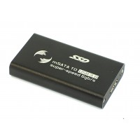 Бокс для SSD диска MSATA с выходом USB 3.0 алюминиевый, черный