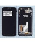 Модуль (матрица + тачскрин) Philips Xenium I908 черный с рамкой